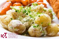 Kotlet de volaille z glazurowaną marchewką Potato Recipes, Potato Salad, Potatoes, Cooking, Ethnic Recipes, Food, Poland, Diet, Poultry