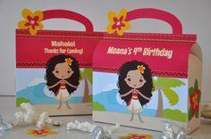 Moana Polinesia princesa inspirado favor caja combo Maui para