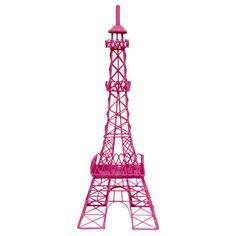 for Registration Hot Pink Metal Eiffel Tower Decor