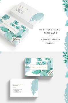 Get this beautiful business card template. Etsy Business Cards, Fashion Business Cards, Real Estate Business Cards, Elegant Business Cards, Business Card Design, Creative Business, Logos Photography, Photography Business Cards, Watercolor Business Cards