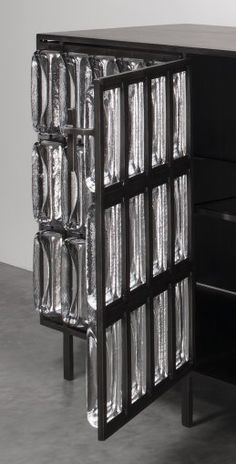 Triscosta Cabinet, glass and iron by Christophe Côme | Corning Museum of Glass