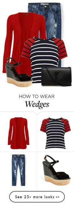 """""""Untitled #9854"""" by nanette-253 on Polyvore featuring WearAll, Karen Millen, Gucci and Yves Saint Laurent"""
