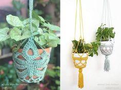 Crochet Plant Hanger, Macrame Plant Hanger Patterns, Free Macrame Patterns, Macrame Plant Hangers, Crochet Patterns, Crochet Decoration, Crochet Home Decor, Crochet Gifts, Free Crochet