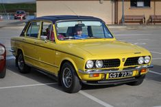 Amazing performance from a family saloon car. Yellow Car, Mellow Yellow, Retro Cars, Vintage Cars, Cars Uk, British Sports Cars, Old Classic Cars, Classic Motors, Commercial Vehicle