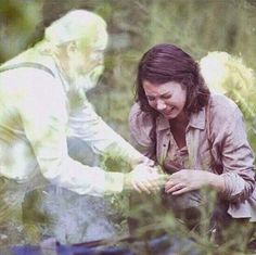 This is so sad. Hershel and Beth hugging Maggie