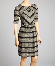 Another great find on #zulily! Sparrow Stripe Belted Sweater Dress by Luxology #zulilyfinds