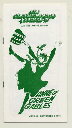 1976 brochure cover, Anne of Green Gables - The Musical™ at Confederation Centre of the Arts.