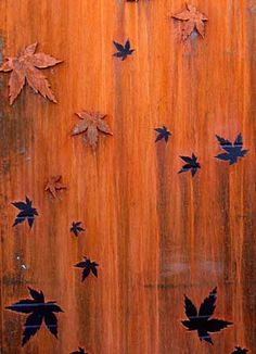 The simple beauty of the maple leaf is captured in laser cut rusted steel, ready to attach to a courtyard wall or installed as a freestanding screen. Features Corten Screen is Australian made and produced from 3mm Corten steel. Suitable for outdoors use. The steel is chemically rusted and will gently age for years without deteriorating too far because of the copper in its composition.