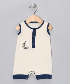 Take a look at this Natural Ship Organic Shortalls - Infant by Kids Organic on #zulily today!