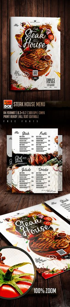 Steak House Menu on Behance