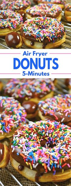 5 Minute Air Fryer Donuts – A simple recipe for a favorite treat that can be made in just 5 minutes. 5 Minute Air Fryer Donuts – A simple recipe for a favorite treat that can be made in just 5 minutes. Air Fryer Recipes Potatoes, Air Fryer Oven Recipes, Air Fry Recipes, Air Fryer Dinner Recipes, Donut Recipes, Dessert Recipes, Breakfast Recipes, Air Fryer Recipes Donuts, Dessert Food