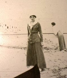 Grand Duchess Tatiana with one of her sisters in the background (Olga or Maria), ca. 1916.