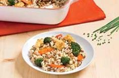 Roasted vegetable casserole |   If you have rice on hand, just add a protein and a veggie to produce a meal in minutes – and faster than a take-out order could arrive at your door.