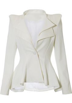 This is beautiful!! Would love in black :) Double Lapel Fit-and-flare Blazer - White
