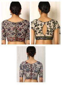 Beautiful Kalamkari blouse designs can add style statement to even a simple saree. Kalamkari Blouse Designs, Simple Sarees, Latest Trends, Blouses, Crop Tops, Beautiful, Women, Style, Fashion