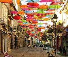Paraguas en Agueda