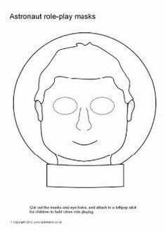 Astronaut role-play masks - black and white (SB7284) - SparkleBox