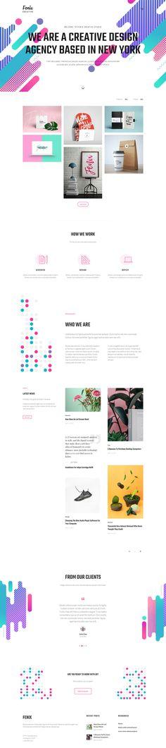 Fenix - Responsive Multi-Purpose WordPress theme #portfolio #website