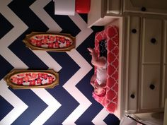 Thinking this would be a great accent wall. Cant decide if i like chevron or other pattern walls better.