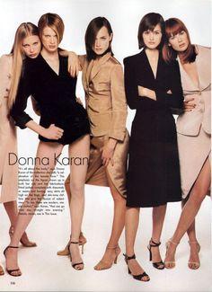 Vogue Editorial January 1995 - Michele Hicks, Meghan Douglas, Kristen McMenamy, Shalom Harlow, Amber Valletta, Trish Goff, Linda Evangelista, Karen Mulder, Nadja Auermann, Kirsty Hume & Naomi Campbell by Steven Meisel