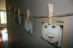 I so want to do this for all the kids.  I'm thinking picture and clear light garland for living room?  Hallway?
