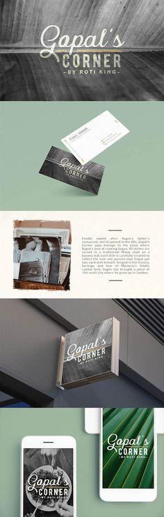 Restaurant branding project for Gopal's Corner by Roti King