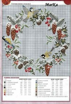 51 Ideas For Love Bird Cross Stitch Watches Xmas Cross Stitch, Cross Stitch Flowers, Counted Cross Stitch Patterns, Cross Stitch Charts, Cross Stitch Designs, Cross Stitching, Cross Stitch Embroidery, Embroidery Patterns, Hand Embroidery