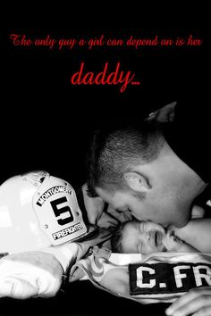 Firefighter with his newborn baby