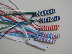 Braided Barrettes.  Had them in every color I could get my mom to buy the ribbon in!