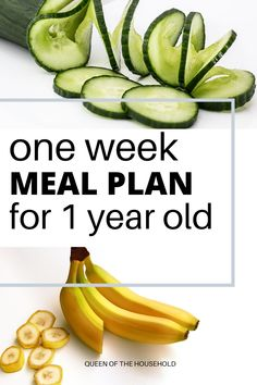 Make sure your 1 year old has a balanced diet with foods in all food categories. Here is a complete meal plan of 7 breakfast, lunch, dinner, and snack. Healthy Toddler Meals, Toddler Lunches, Kids Meals, Healthy Snacks, Healthy Recipes, Toddler Food, Toddler Plates, Baby Meals, Toddler Dinners