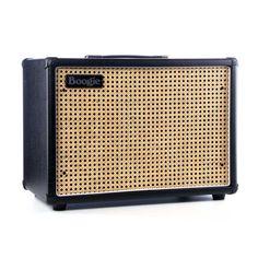 Mesa Boogie Amps 1x12 Widebody Closed Back Guitar Amplifier Speaker Cabinet - Black w/ Custom Wicker Grille