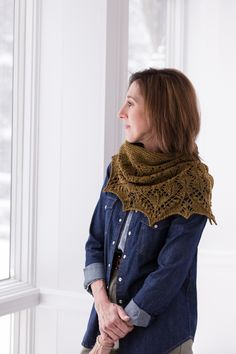 RAKKE: Knit a shawl in two skeins of Loft or a narrow crescent scarf in four skeins of Shelter from the same clever pattern. Both versions begin with a cast-on at the neck edge and a segment of garter short rows to establish the curved form. Lace guru Susanna IC often finds inspiration in traditional Estonian …