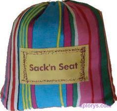 Met de Sack 'n Seat heb je altijd een kinderstoel bij de hand.
