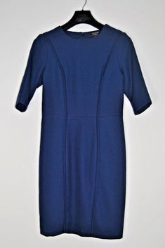Navy blue sleeve midi dress for office,work, woman clothe, elegant lines #ElCorteIngles #BodyconDress #Work #office #navy