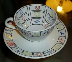 Great Poole England Fortune Teller Tea Cup Saucer Set by Ian Messiter | eBay