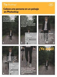 El paso a paso para colocar una persona en un paisaje en #Photoshop #tutorial #tip #trucos
