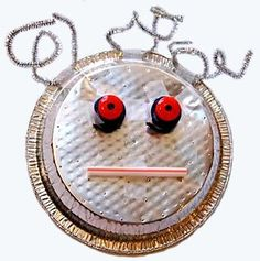 robot face. This would be cute for the prek kids.