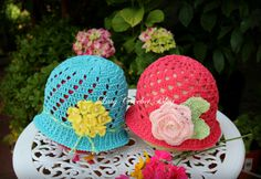 Cloche Style Crochet Summer Hats