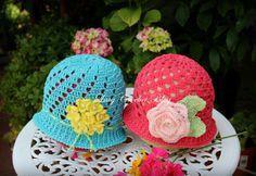 Cloche Style Crochet Summer Hats