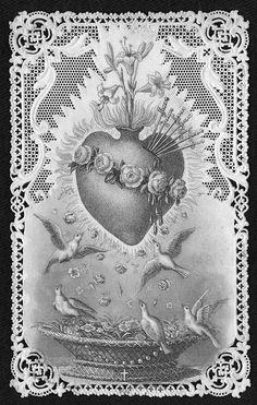 Vintage French prayer card