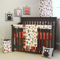 Owl-Themed Baby Bedd