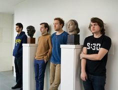 Bombay Bicycle Club in the galleries. Museum of Fine Arts, Boston.