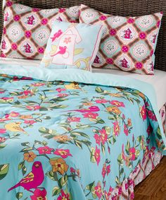 Take a look at this Blue Birds in Paradise Quilt Set by Rizzy Home on #zulily today!