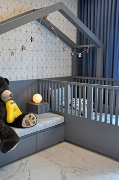 Modern toddler bedroom design by Top Miami Designers - . - Modern toddler bedroom design by Top Miami Designers – child - Diy Toddler Bed, Boy Toddler Bedroom, Boys Bedroom Decor, Toddler Rooms, Baby Bedroom, Baby Boy Rooms, Bedroom Ideas, Bedroom Loft, Bedroom Designs