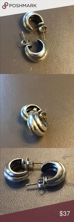 "James Avery Sterling Silver post earrings James Avery Sterling silver earrings, measure approx .75"" no flaws James Avery Jewelry Earrings"