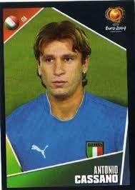 Antonio Cassano of Italy. European Championships, Real Madrid, Fifa, World Cup, Soccer, Italy, Japan, Baseball Cards, Portugal