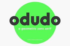 Odudo - Typeface by thmbnl. on @creativemarket