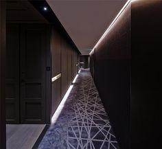 CHAO Hotel by GD-Lighting Design | Hotel interiors Design Hotel, Beijing China, Carpet Design, Floor Design, Corridor Lighting, Indirect Lighting, Hotel Corridor, Corridor Design, Hotel Carpet