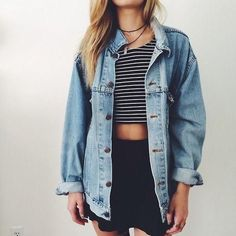 Oversized denim jacket ALWAYS.