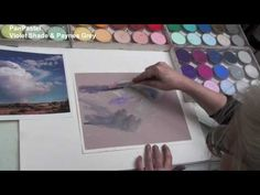 ▶ Cloudy Landscape Painting with PanPastel - YouTube